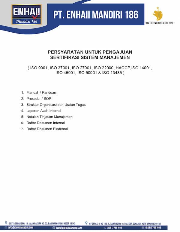 Persyaratan Sertifikasi Sistem Manajemen | Enhaii
